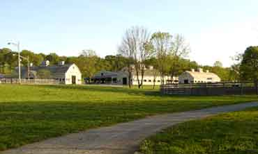 View of Caves Farm Barns